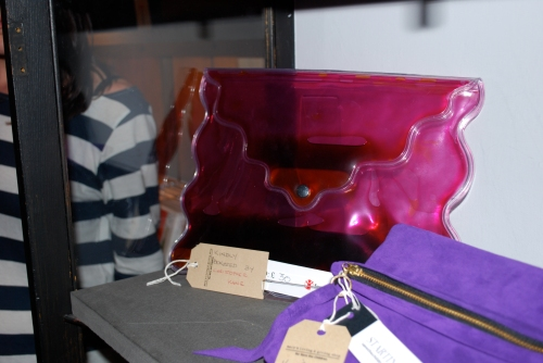 Christopher Kane Gel Clutch at Bag to Save a Life Event