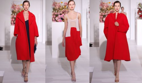 Jil Sander AW12 Red Looks