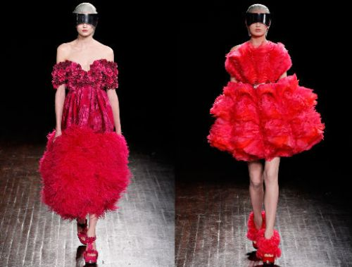 Alexander McQueen AW12 Red Looks