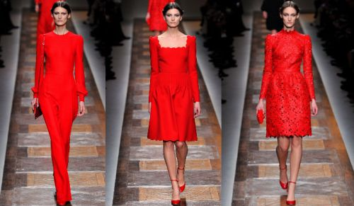 Valentino AW12 Red Looks